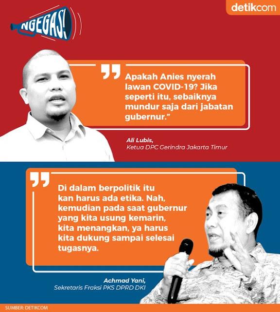 Ali Lubis Serang Anies, PKS Menangkis