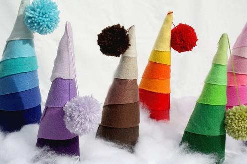 Arboles De Navidad Con Papel Crepe Portal De Manualidades