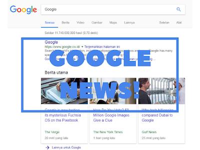 Artikel Tampil di Google News