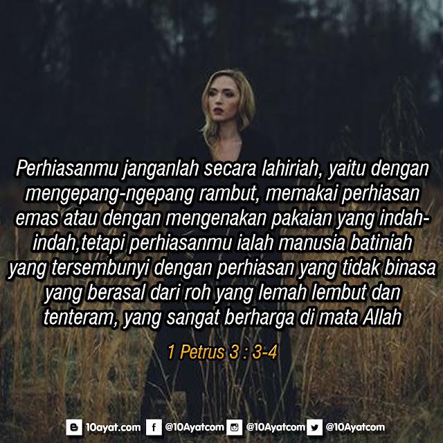 1 Petrus 3 : 3-4