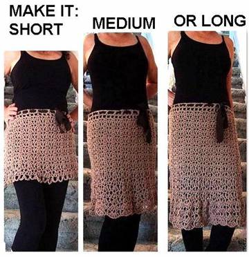 Hectanooga Patterns How To Crochet A Skirt Any Size Any Length