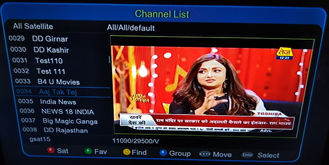 New Channel: Aaj Tak Tez channel added on DD Freedish platform