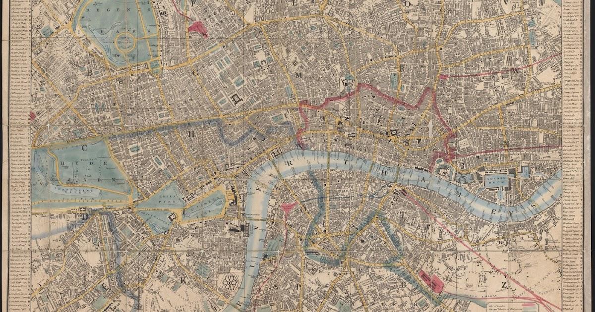 Londra Cartina.Rerum Romanarum Mappa Di Londra Cruchley 1850
