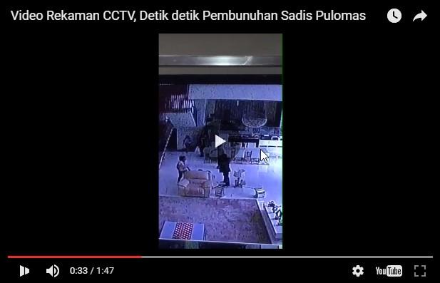 Rekaman Asli CCTV Detik-detik Pembunuhan Sadis Pulomas (Unsensored)