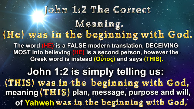 John 1:2 The Correct Meaning.