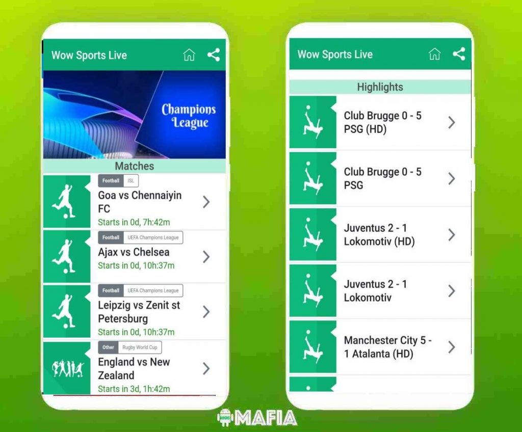 Download Wow Sports Live Apk Latest Version All Live Sport