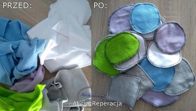 Akcja Reperacja u Adzika - Płatki kosmetyczne DIY ze ścinek