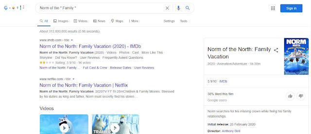 Using Google wildcard in search