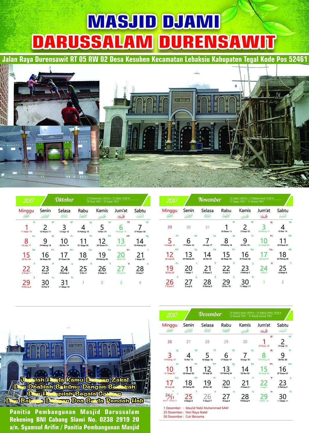 Inspirasi 54+ Desain Warna Kalender