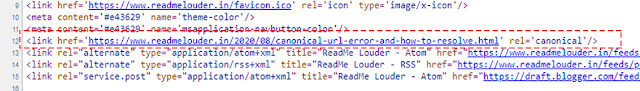 What is canonical URL error and how to resolve It Img