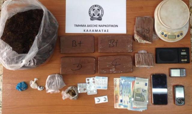 Αστυνομικοί της Καλαμάτας συνέλαβαν 53χρονο για ναρκωτικά στην Αττική (βίντεο)