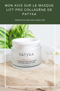 avis sur le masque visage patyka lift pro collagene