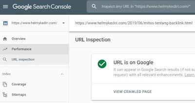 Menggunakan fitur inspeksi URL