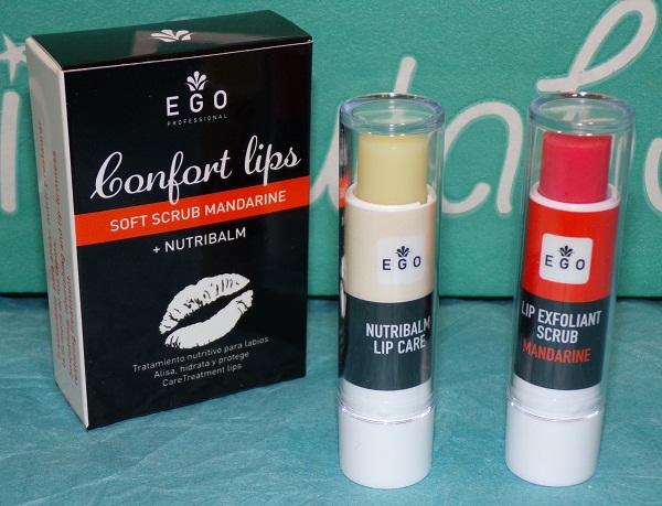 Tratamiento de labios: exfoliante y nutribalm de Eggo