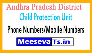 Andhra Pradesh District Child Protection Unit (DCPU)Phone Numbers/Mobile Numbers