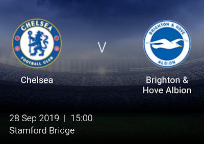 LIVE MATCH: Chelsea Vs Brighton Premier League 28/09/2019
