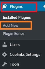 Wordpress Plugins, Add New, Installed