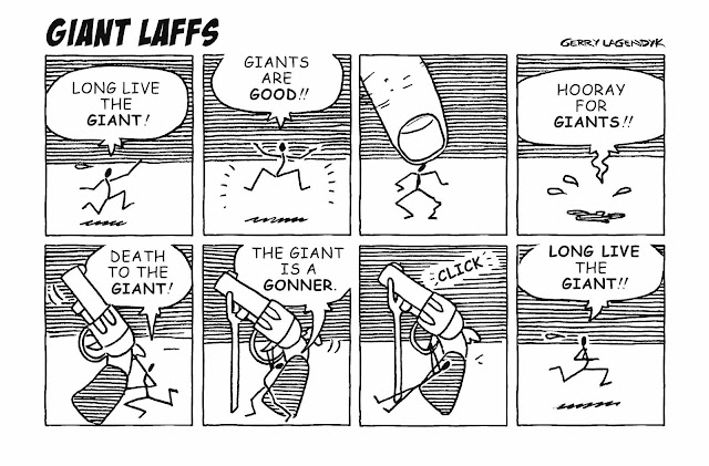 Gerry Lagendyk cartoon about a little stick man