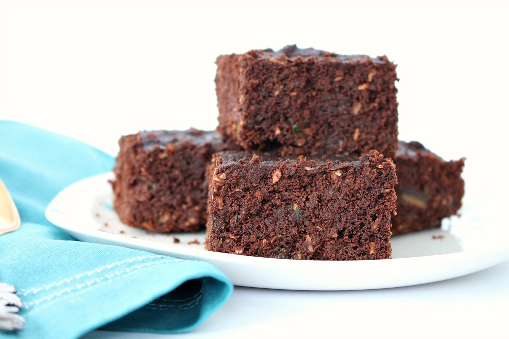 Zucchini Brownie Recipe Made with Coconut Flour