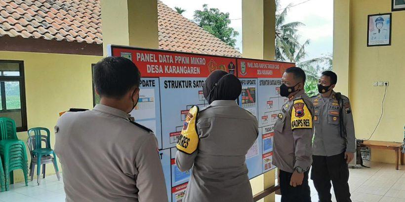 Kapolres Purbalingga Cek Kesiapan Posko PPKM Berbasis Mikro di Kutasari