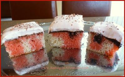 Chocolate Raspberry Cake Squares | recipe developed by www.BakingInATornado.com | #recipe #dessert
