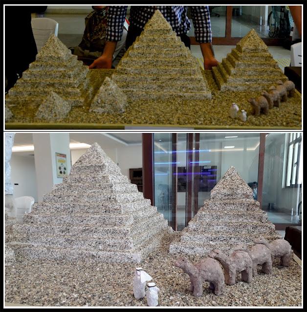 materyal tasarım örneği mısır piramitleri