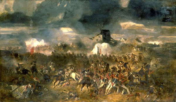 Battle of Waterloo by Clement-Auguste Andrieux, Macabre Art, Macabre Paintings, Horror Paintings, Freak Art, Freak Paintings, Horror Picture, Terror Pictures