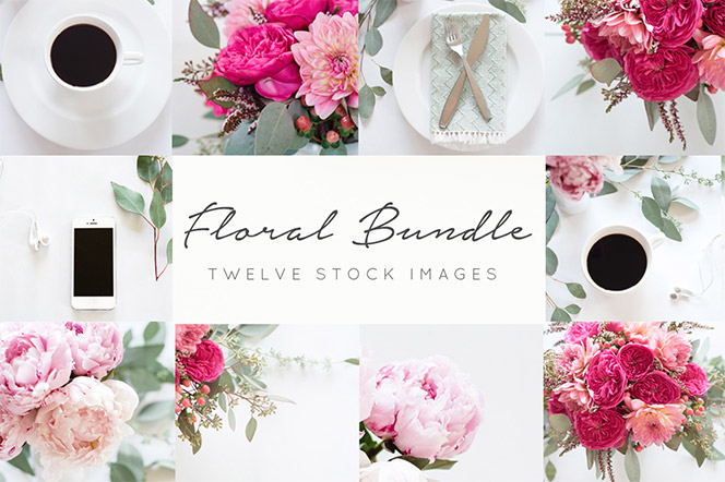 Floral Stock Images+FREE blog header - TwigyPosts