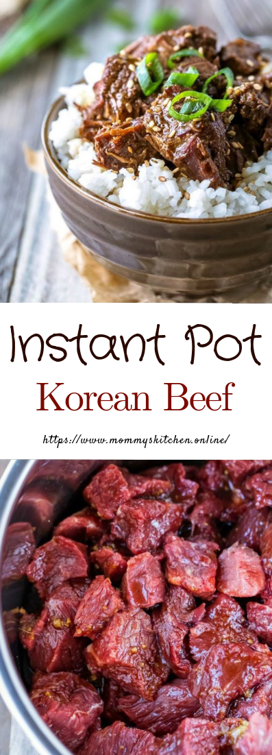 Instant Pot Korean Beef #dinner #recipe