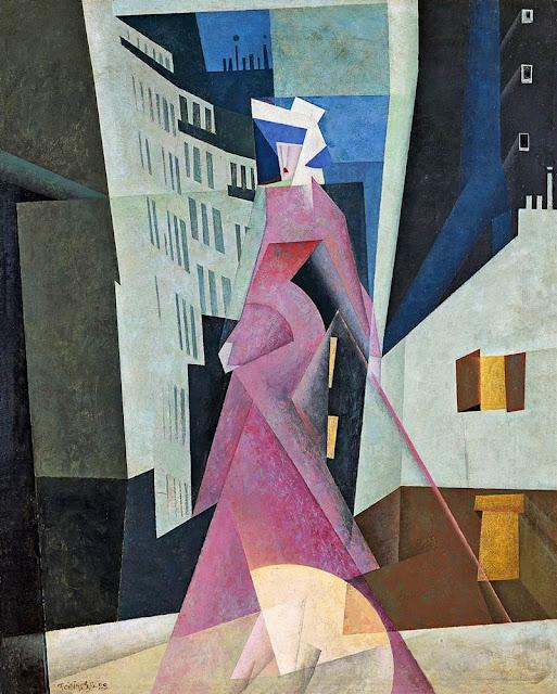 Lyonel Feininger Yoldaki Bayan
