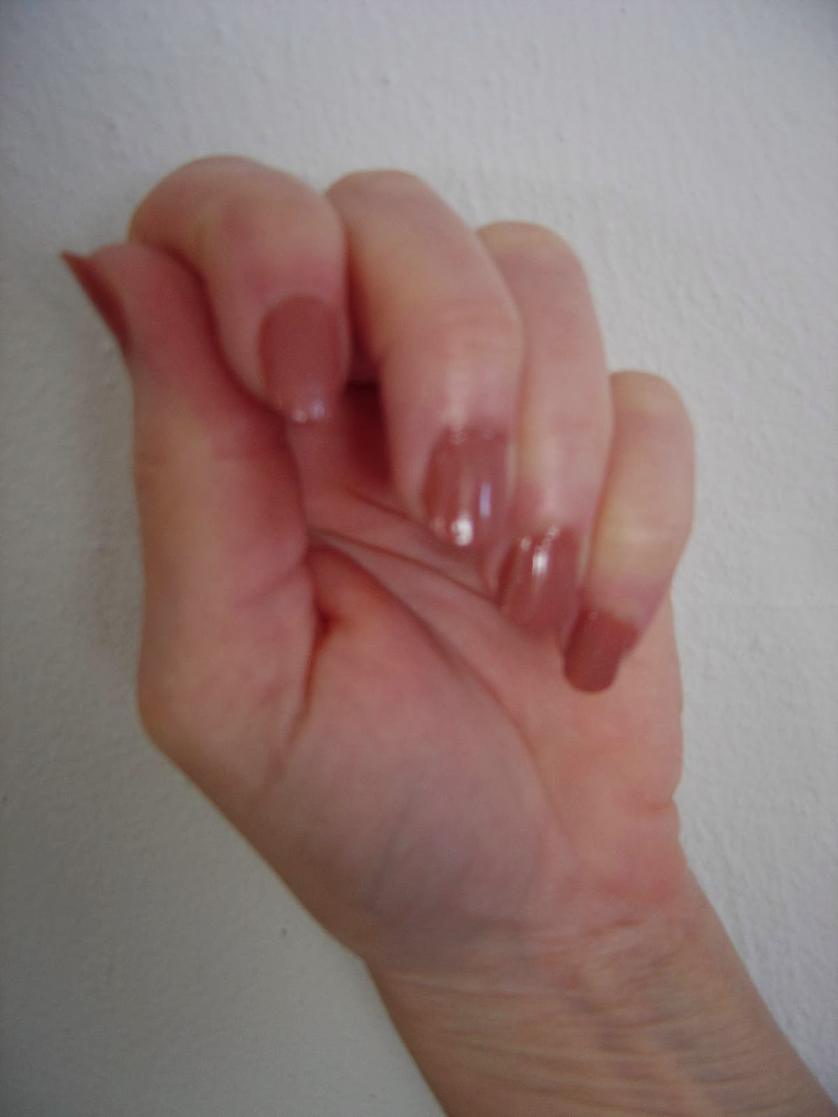 modeling Sally Hansen's Complete Salon Manicure 240 Ping Pong with base coat.jpeg