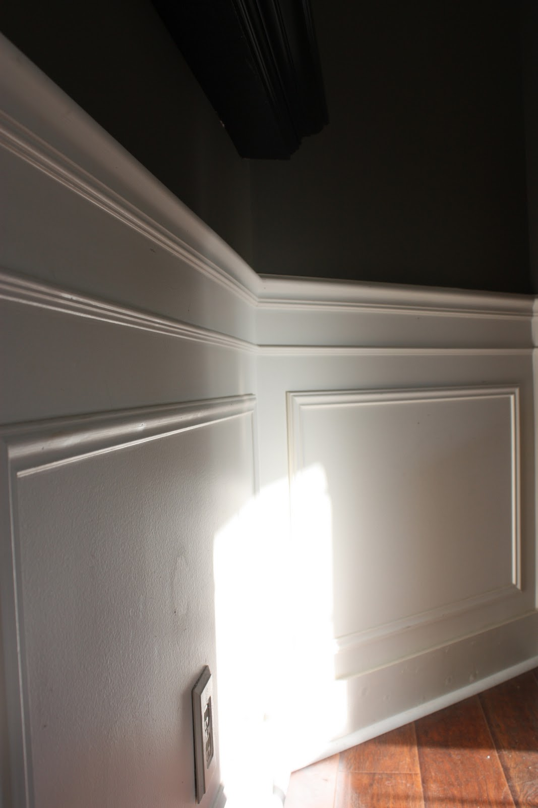 picture frame moulding below chair rail car seat office the yellow cape cod 31 days of character building