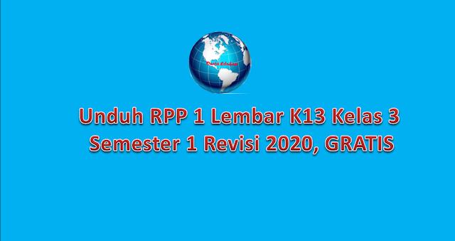 Unduh RPP K13 kelas 3