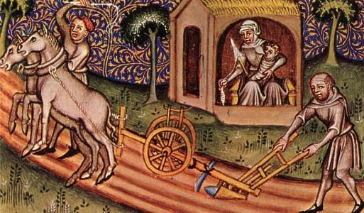 Risultati immagini per campagna medievale aratura