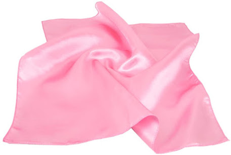 Plain Shiny Pink Satin Scarves