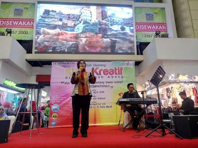 Kegiatan Launching Kiosk Kreatif dan Online Sales Asistant (OSA) di Blok B Tanah Abang