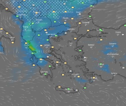 Βροχές και χιονοπτώσεις στα ορεινά αύριο Τετάρτη