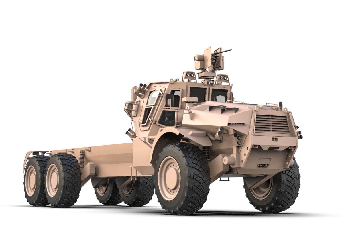 Концепт важкої броньованої колісної універсальної платформи