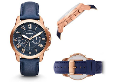 Fossil FS4835 Analog Blue Dial Men's Watch