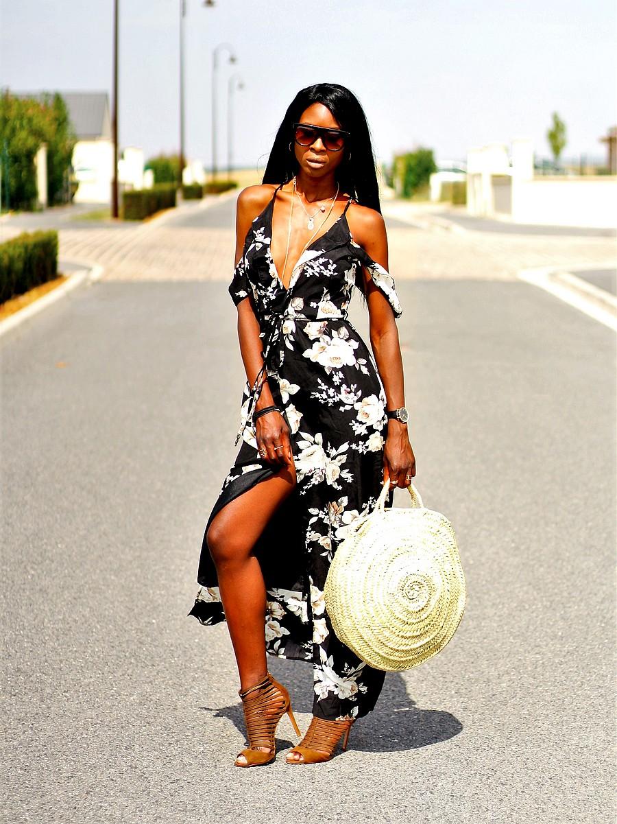 robe-maxi-imprime-fleurs-missguided-sac-panier-paille