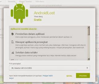 Cara melacak lokasi Android yang hilang dengan aplikasi AndroidLost .apk terbaru