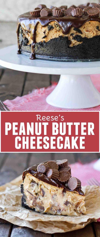 REESE'S PEANUT BUTTER CHEESECAKE #Reese #Peanutrecipe #Peanut #Butter #Cheesecake #Bestcheesecake #Dessert #Bestdessert #Americandessert