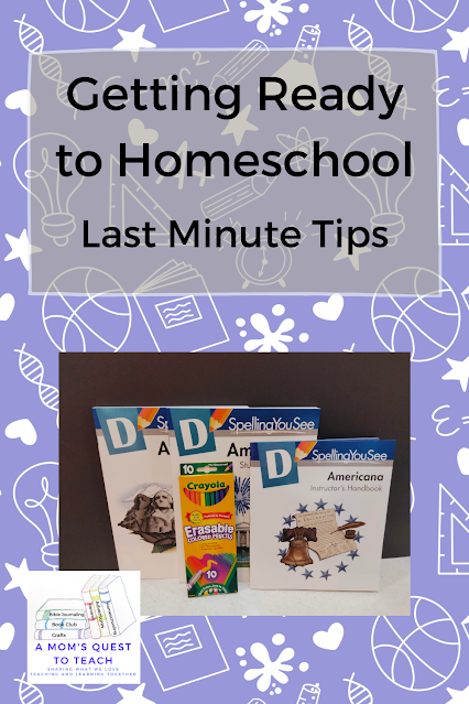 A Mom's Quest to Teach: Getting Ready to Homeschool: Last Minute Tips - Finding Grace in your Journey Spelling You See photo and school background