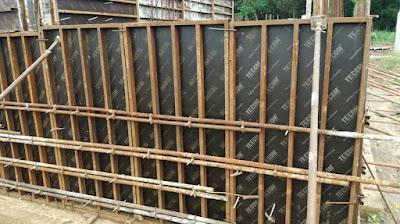 Ứng dụng ván coppha tekcom thi công tường