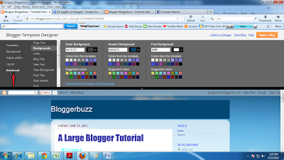 change your blog layout and sidebar
