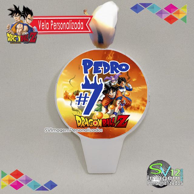vela de aniversário personalizada Dragon Ball Z dicas e ideias para decoração de festa personalizados