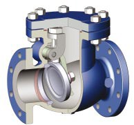 swing type check valve for oil and gas production wellhead or manifold
