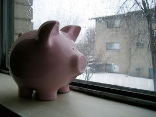 money in rain