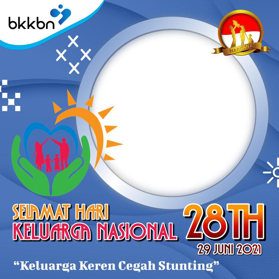 Link Background Frame Bingkai Twibbon Harganas 2021 dengan Tema Keluarga Keren Cegah Stunting