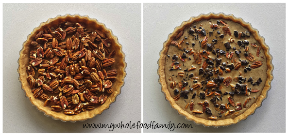 Wholefood Chocolate Pecan Pie - wheat free - no refined sugar - from www.mywholefoodfamily.com